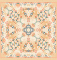 the bright shawl with geometric pattern vector image vector image
