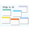 things to do blank vector image vector image