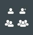 user profile group set icon symbol vector image vector image