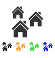 village buildings icon vector image