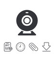 webcam sign icon web video chat symbol vector image