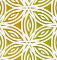 White geometrical flower on mesh seamless pattern vector image vector image