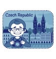 with catedral in Czech Republic vector image