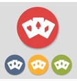 Flat playing cards icons vector image
