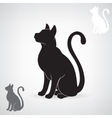 Stylized black silhouette of a cat vector image