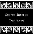 Celtic border template vector image