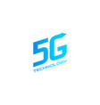 5g label design template vector image vector image