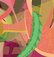 abstract dragon color vector image vector image