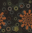 Abstract flowers a seamless pattern wallpaper