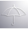 abstract umbrella paper icon vector image vector image