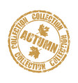 autumn collection rubber stamp isolated on white vector image