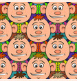 baby boy seamless pattern vector image vector image