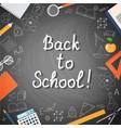 banner back to school vector image vector image
