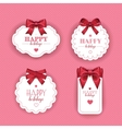 Beautiful cards with gift bows ribbon vector image vector image