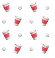 Beer pong seamless pattern vector image vector image