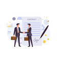 business agreement contract colorful flat vector image vector image