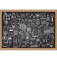 business plan on chalkboard vector image vector image