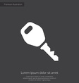 car key premium icon vector image vector image