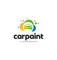 car paint logo template design car wash logo vector image