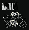 chalkboard ripe passion fruit vector image