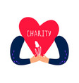 charity and donation concept vector image