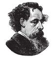 charles dickens vintage vector image vector image