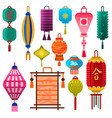 chinese lantern paper lightertraditional vector image vector image