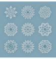 Christmas flat line snowflakes set vector image vector image