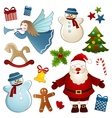 Christmas isolated elements vector image vector image