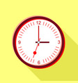 clock face with red numbers icon flat style vector image vector image