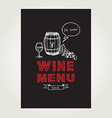 Cocktail wine bar menu template design vector image