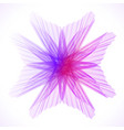 colorful abstract flower vector image vector image