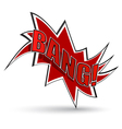 Comic book bang vector image vector image