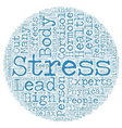 Cortisol The Stress Hormone text background vector image vector image