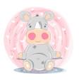 cute rhino - cartoon characters vector image vector image
