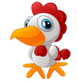 Cute rooster cartoon posing vector image vector image