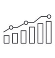 diagram thin line icon report and graph growth vector image vector image