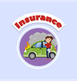 driver calling for help after car accident car vector image vector image