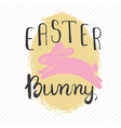 easter greeting card - easter bunny vector image vector image