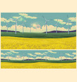 field and wind generators retro poster vector image vector image