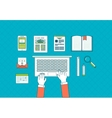 Flat design concept icons set vector image vector image