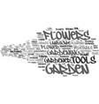 garden word cloud concept vector image vector image