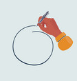 hand drawn circle drawn pen in vector image