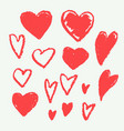hand drawn heart shape doodle vector image