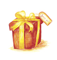 Hand drawn present vector image vector image