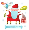 Happy Christmas or New Year Holidays Monster Santa vector image vector image