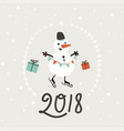 happy new year 2018 card simple vector image vector image