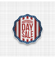 independence day badge with usa flag vector image vector image