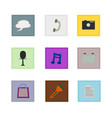 isolated website icon set vector image vector image