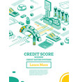 isometric personal credit score or rating concept vector image vector image